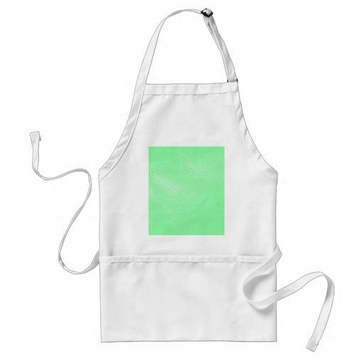 Pastel Aqua Green Leather Look Aprons