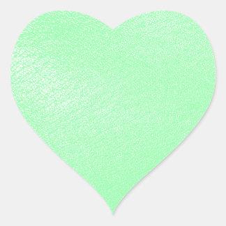Pastel Aqua Green Leather Look Heart Sticker