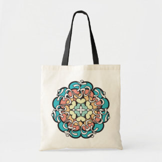 Pastel Aum Mandala Tote with Hearts