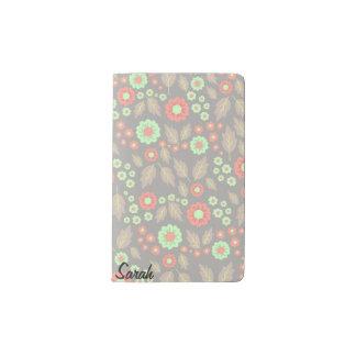 Pastel Autumn Flowers Pocket Notebook