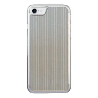 Pastel Baby Blue Vertical Stripes Carved iPhone 7 Case