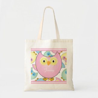 Pastel Baby Owl Nursery Theme in Pink Tote Bag