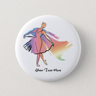 Pastel Ballerina (Personalized_ 2 Inch Round Button