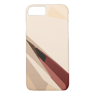 Pastel Beige and Red iPhone 7 Case