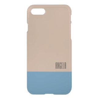 Pastel Beige/Azure Monogram iPhone 8/7 Case