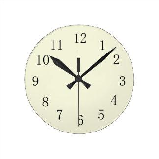 Pastel Beige Kitchen Wall Clock