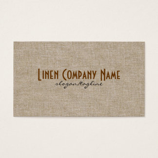 Pastel Beige Natural Linen Burlap Fabric Look Business Card