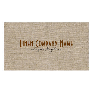Pastel Beige Natural Linen Burlap Fabric Look Pack Of Standard Business Cards