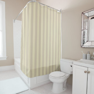Pastel Beige Striped Shower Curtain