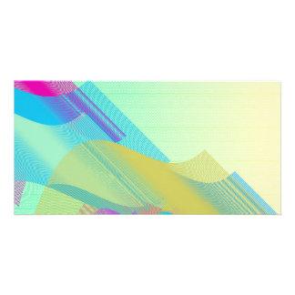 Pastel Bezier half Photo Card Template