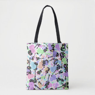 Pastel Black And White Guitar Tote Bag
