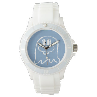 Pastel Blue 鬼鬼 Stainless Steel Wristwatch (Sporty)