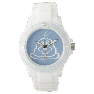 Pastel Blue 鲍鲍 Stainless Steel Wristwatch (Sporty)