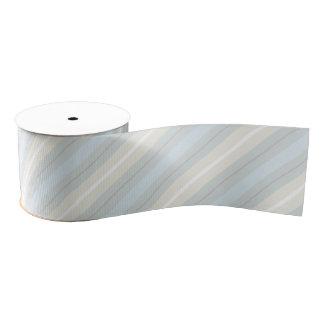 Pastel Blue and Gray Stripes Pattern Ribbon Grosgrain Ribbon