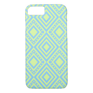 Pastel Blue and Green Diamond Pattern iPhone 8/7 Case