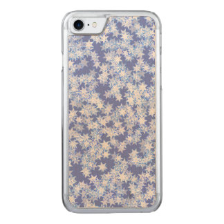 Pastel Blue and Periwinkle Kawaii Stars Carved iPhone 8/7 Case