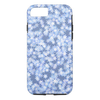 Pastel Blue and Periwinkle Kawaii Stars iPhone 7 Case
