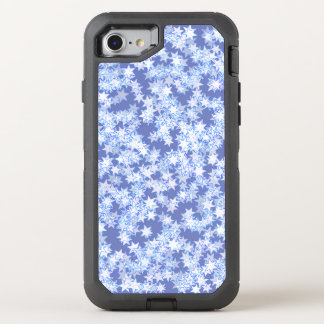 Pastel Blue and Periwinkle Kawaii Stars OtterBox Defender iPhone 7 Case