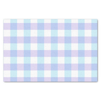 Pastel Blue and Purple Gingham Tissue Paper