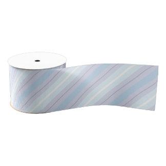 Pastel Blue and Purple Striped Ribbon Grosgrain Ribbon