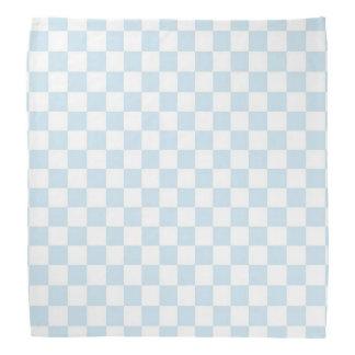 Pastel Blue and White Checkerboard Bandana