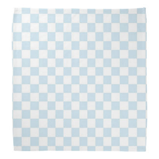 Pastel Blue and White Chequerboard Bandana