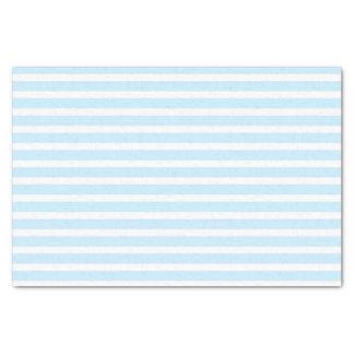 Pastel Blue and White Stripes Tissue Paper