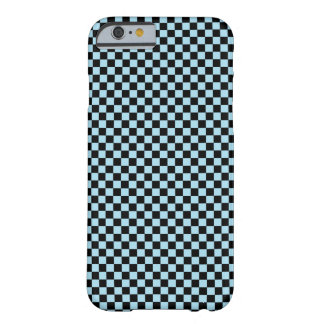 Pastel Blue / Black Checkered Pattern Barely There iPhone 6 Case