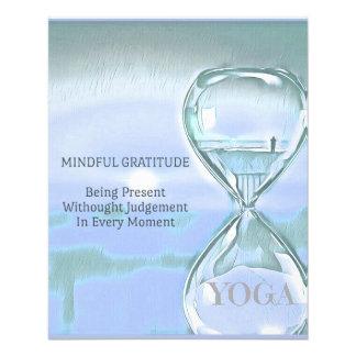 Pastel Blue Calming Yoga Hourglass Gratitude Flyer