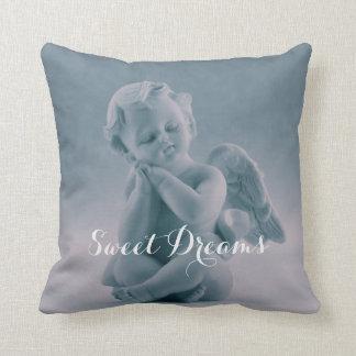 Pastel Blue Cherub Throw Pillow