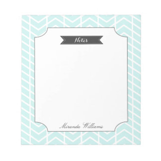 Pastel Blue Chevron Notepad