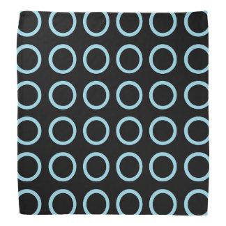 Pastel Blue Circles Black Bandana