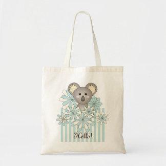 Pastel Blue Cute Animal Koala Personalized Kids
