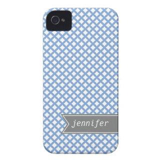 Pastel Blue Diamond Pattern iPhone 4 Case-Mate Case