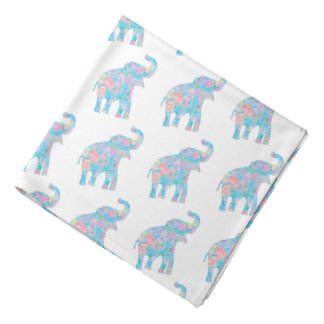 pastel blue floral baby elephants do-rag