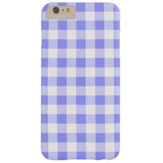 Pastel Blue Gingham Barely There iPhone 6 Plus Case