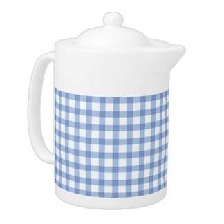 Pastel Blue Gingham Check Pattern