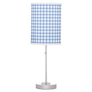 Pastel Blue Gingham Check Pattern Desk Lamps