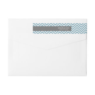 Pastel Blue & Gray Baby Shower Suite Wrap Around Label