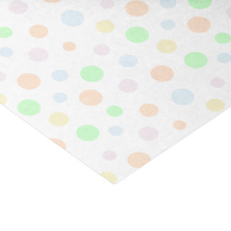 Pastel Blue, Green, Orange, Yellow and Pink Dots Tissue Paper
