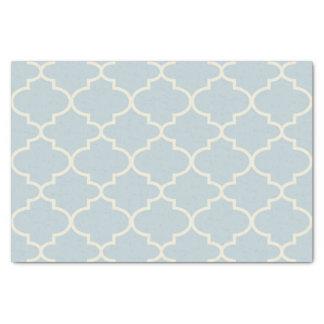 Pastel Blue Moroccan Lattice Pattern Tissue Paper
