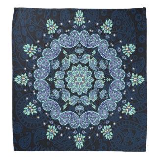 Pastel Blue Paisley Kaleidoscope Bandana