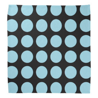Pastel Blue Polka Dots Black Do-rag
