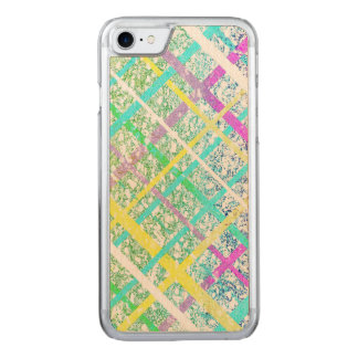 Pastel Blue Pop Art Paper Crossed Line Mixed Media Carved iPhone 8/7 Case