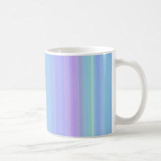 Pastel Blue Purple Green Stripes Mug