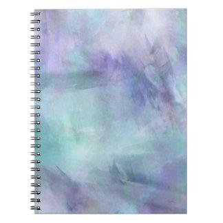 Pastel Blue Purple Watercolor Background Notebooks