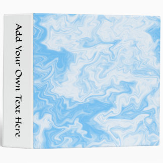 Pastel Blue Random Design. 3 Ring Binder