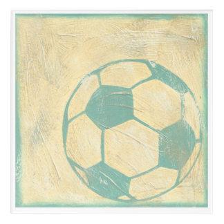 Pastel Blue Soccer Ball by Chariklia Zarris Acrylic Wall Art