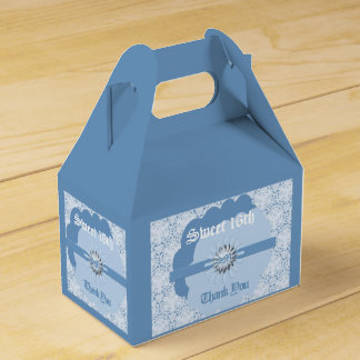 Pastel Blue Sweet-16th FavorGableBox with Bl Favor Box