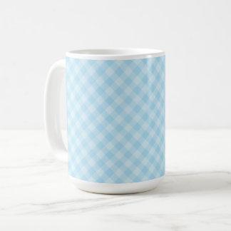 Pastel Blue Tartan 15 oz Mug
